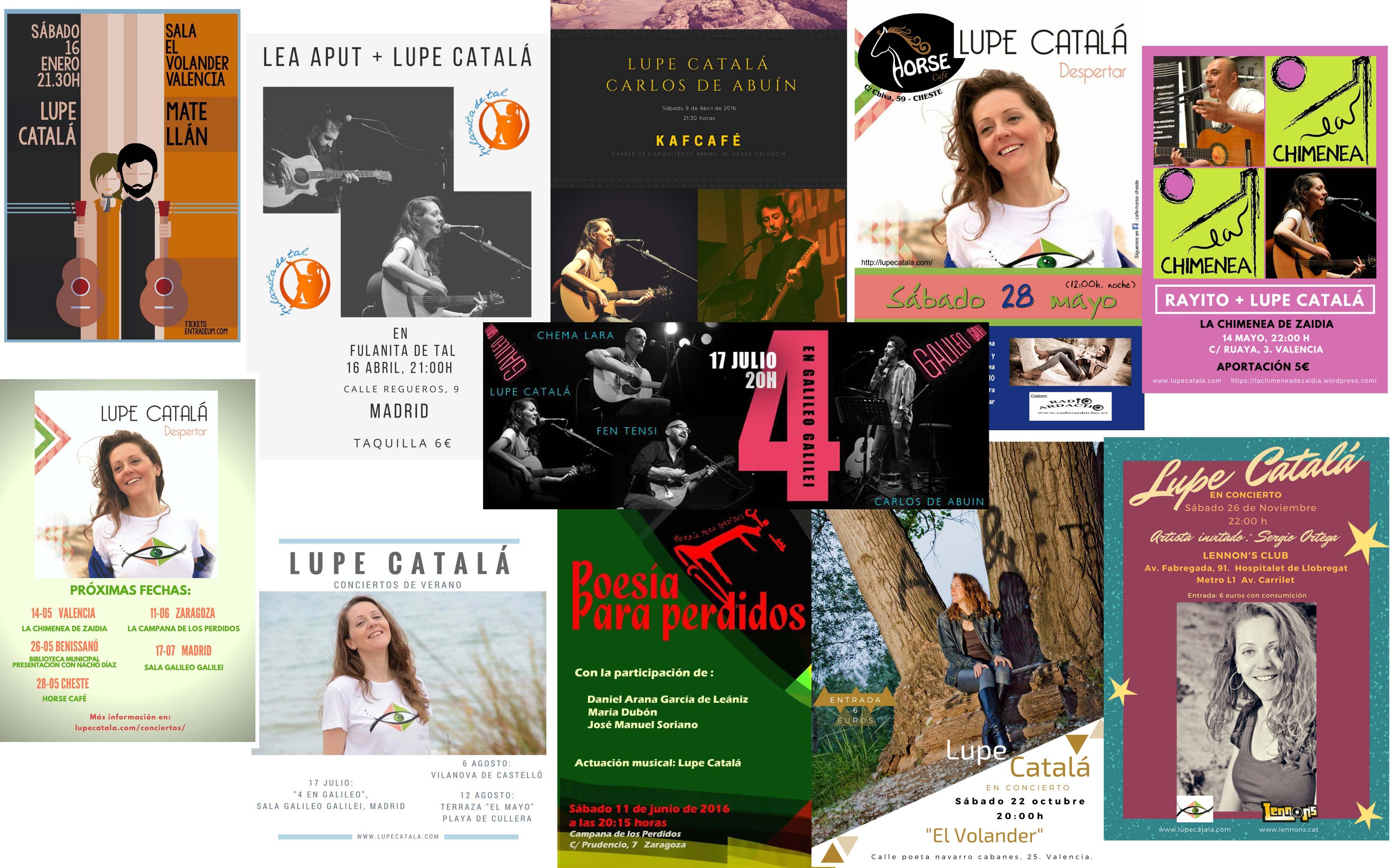 Carateles conciertos 2016